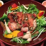 外食で野菜や栄養バランスを考えるなら熊本・田井島「大戸屋」で!「炭火焼きバジルチキンサラダ定食」の見事な手作り感。