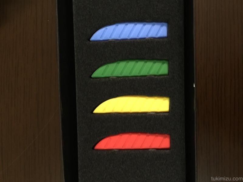 色分け用のゴム