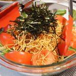 初のパリ麺サラダ!カレーのお供に試してみました。