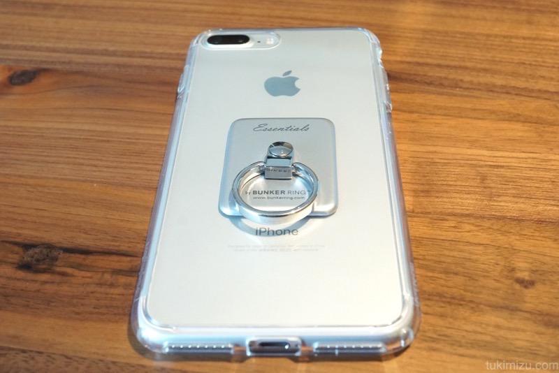 バンカーリング付きiPhone