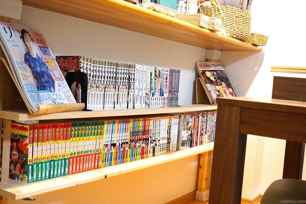 平行にみた本棚