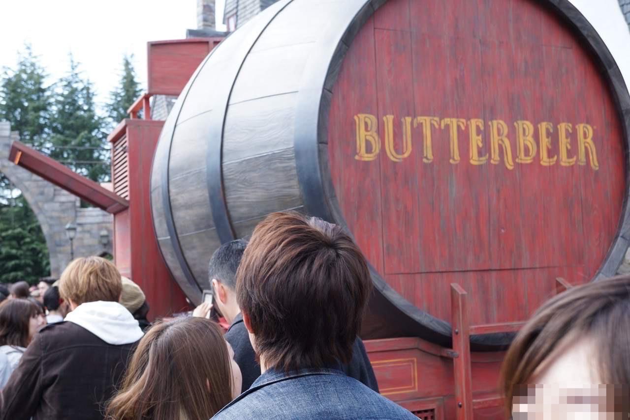 バタービールの行列