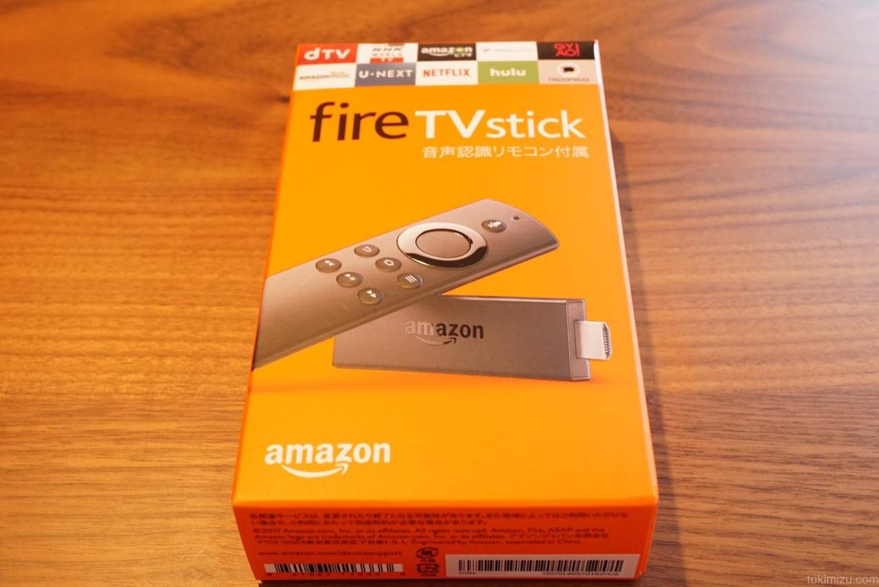 fireTVstickの箱