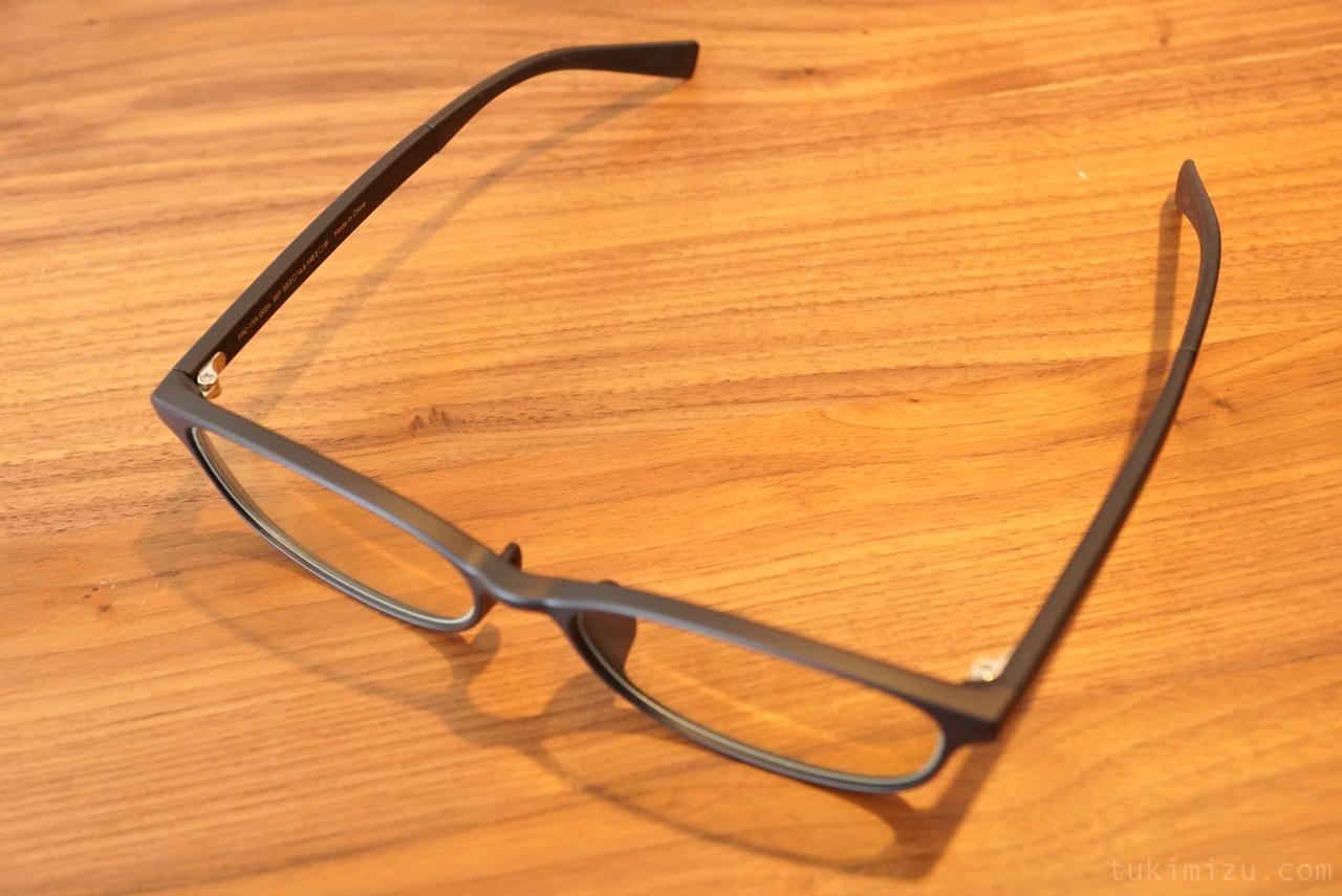 上からみたメガネ