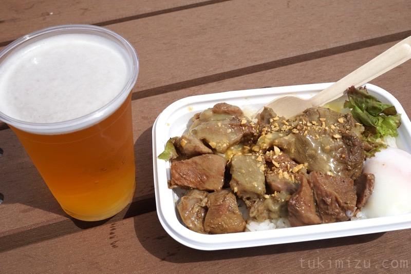 ライブ飯とビール