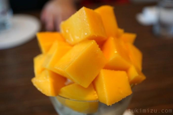 アップのマンゴー