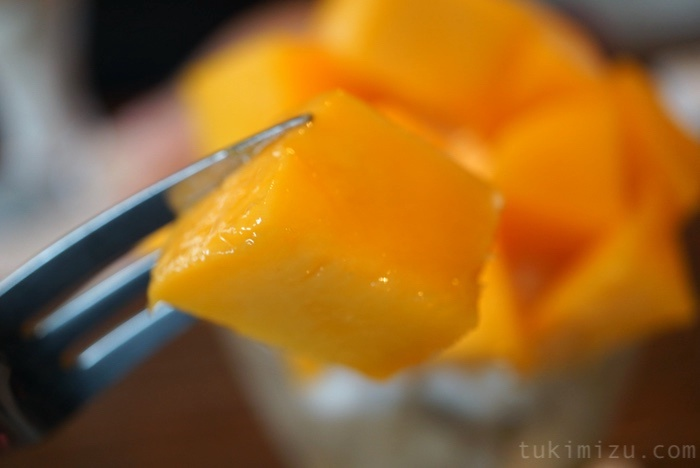 一切れのマンゴー