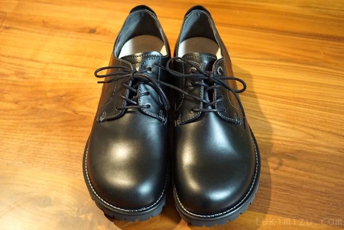 メンテナンス前の革靴
