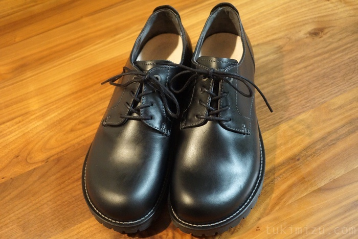 メンテナンス後の革靴