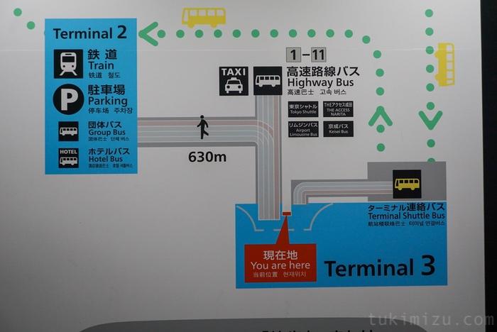 成田空港のマップ