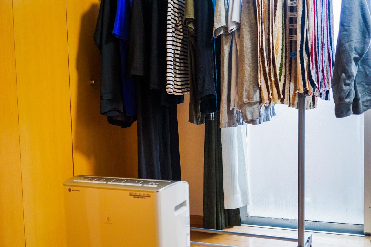 衣類乾燥機と洗濯物